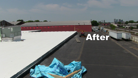 replace a commercial flat roof